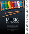 Xylophone music background 56882922