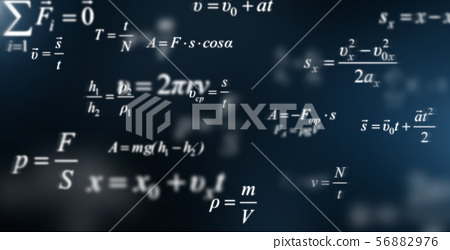 Mathematics background with scientific formulas and calculations 56882976