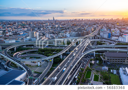 《大阪府》交通形象,東大阪交界處《夜景》 56883368