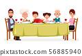 Happy Thanksgiving day. Happy family 56885940