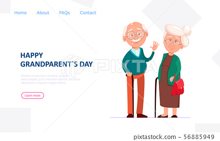 . Cheerful grandfather and grandmother 56885949