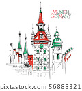 Old Town Hall in Munich, Germany 56888321