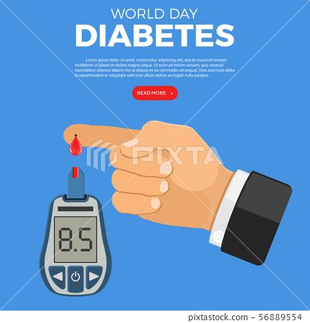 Blood Glucose Meter in Hand 56889554