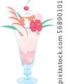 파르페 아이스크림 생크림 디저트 56890101