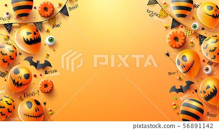 Happy Halloween trick or treat background 56891142