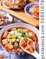 Mapo tofu on rice bowl   56891678