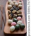 한국의 전통음식 모듬한과, 강정, 꿀떡, 찰떡  56891707