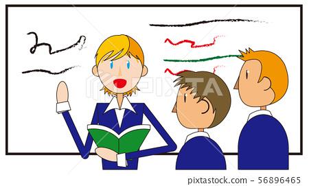 Illustration of English conversation 56896465