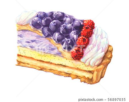 藍莓和覆盆子餡餅 56897035
