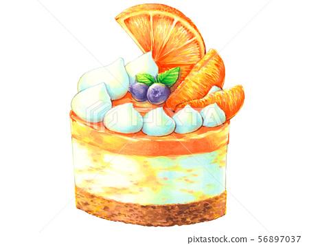 橙色慕斯餡餅 56897037
