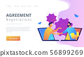Online conference and business concept landing page. 56899269