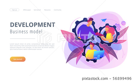 Dedicated team it concept vector illustration 56899496