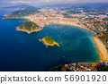 View from drone of San Sebastian, Basque Country 56901920