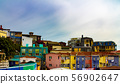 colorful houses with sky 화려한 저택과 하늘 56902647