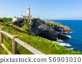 Lighthouse at cape Major (Faro de Cabo Mayor). Santander. Spain 56903010