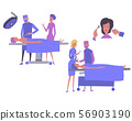 Cosmetology, plastic surgery, - flat vector illustration clinic of aesthetic medicine. 56903190