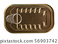 Bronze in can with ring pull, top view of packaging collection 56903742