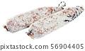 Longaniza on white background 56904405