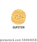 Cartoon Jupiter drawing with a smile on its face 56904658