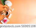 Zero waste beauty body care items on orange 56905108