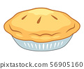 Holiday Pie. American Traditional Pie On Plate. 56905160