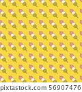 손으로 그린 삼색 경단 패턴 56907476