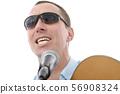handsome man singing 56908324