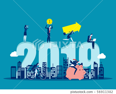 2019 Growth and success. Concept business vector 56911382