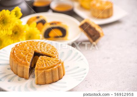 中秋節月餅蓋貝 56912958