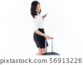 Business woman use smartphone during travel. 56913226