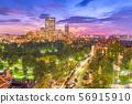 Boston, Massachusetts, USA downtown skyline 56915910