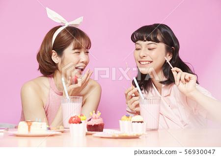 여자 회 티타임 파스텔 핑크 56930047