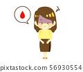 생리통으로 고통받는 여성 56930554
