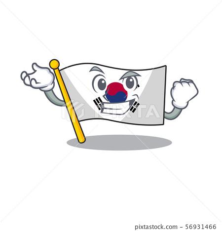 Successful korean flag in the cartoon shape 56931466