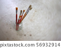 Paint brushes in a jar , Concept art background 56932914