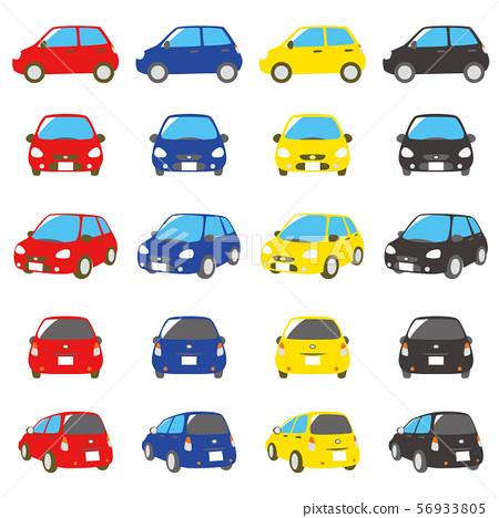 汽車紅色,藍色,黃色,黑色 56933805