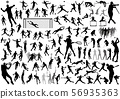 运动剪影插图集 56935363