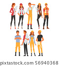 Building Workers and Architects Characters Set, Male and, Female Professional Construction Worker 56940368