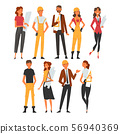 Building Workers and Architects Characters Set, Male and Female Professional Construction Workers 56940369