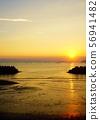 潮汐和日落海 56941482