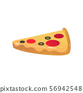 Inflatable pizza mattress for summer pool vacation or sea swimming safety 56942548