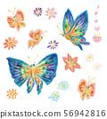 나비 크레용 56942816