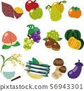 Illustration of autumn food 56943301