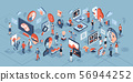 Artificial intelligence technology isometric icons 56944252
