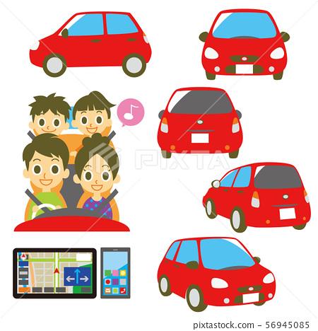가족 운전 차량 네비게이션 스마트 폰 56945085