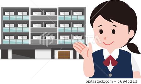 介紹房產的房地產經紀人 56945213