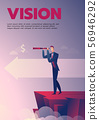 Businessman vision poster with text 56946292