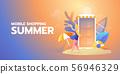 Shopping online summer illustration banner 56946329