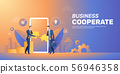 Businessman cooperate startup team banner layout 56946358