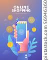 Shopping online illustration poster 56946360